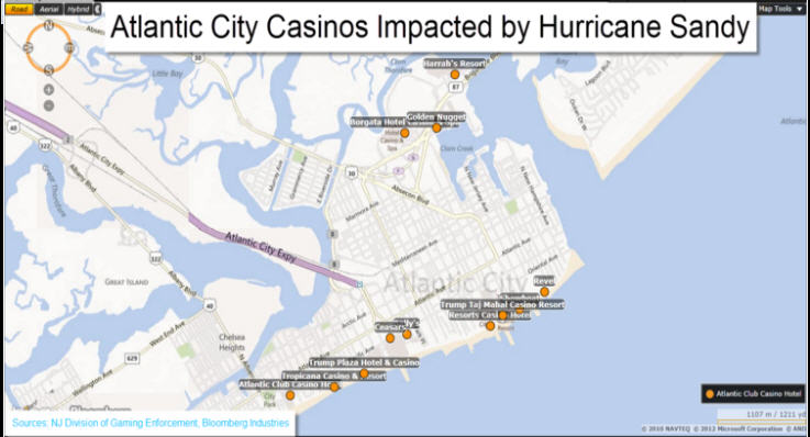 Atlantic city casinos impacted by hurricane