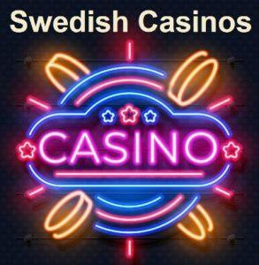 swedish land based casinos Neon Sign